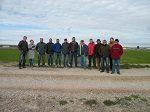 Miembros de la junta de la Comunidad de Regantes de la Huerta de Pina visitan los prototipos